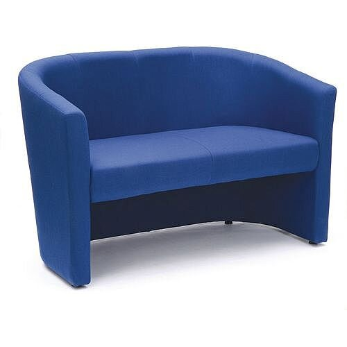 Fabric Tub Sofa Blue