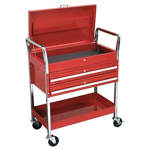 Workshop Trolley With 2 Trays Top Box &2 Drawers