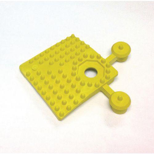 Pvc Corner Pieces For Heavy Duty Open Grid Interlocking Floor Tiles Yellow