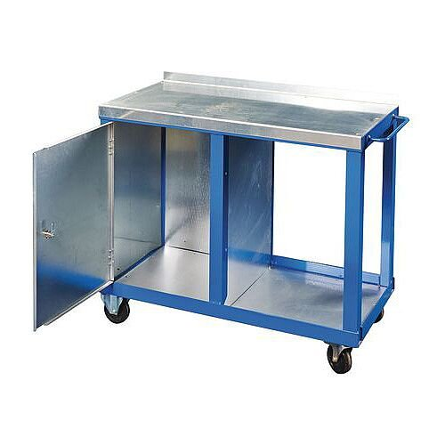 Heavy Duty Tool Trolley With Single Cupboard