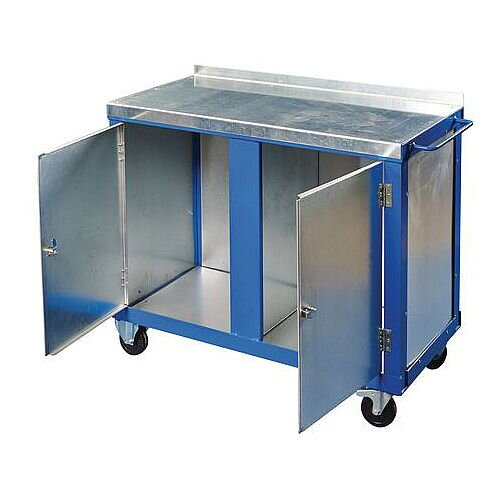 Heavy Duty Tool Trolley With Two Cupboards