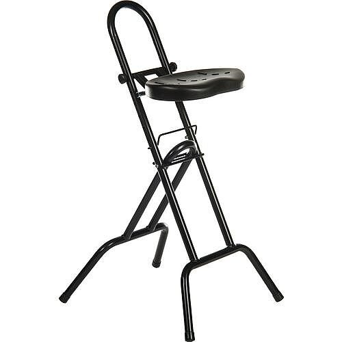 Black Folding Sit Stand Support Stool
