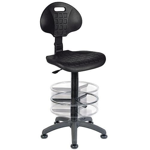 Labour Pro Industrial Draughtsman Chair With Heavy Duty Poly Seat