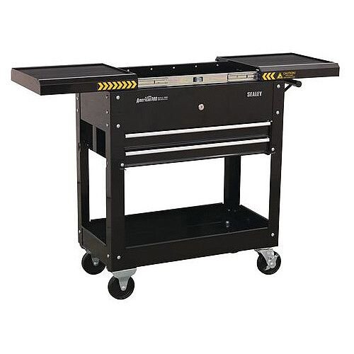 Mobile Tool &Parts Trolley Black 100kg Capacity