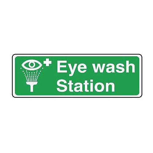 Self Adhesive Vinyl Safe Condition And First Aid Sign Eyewash Station Sign