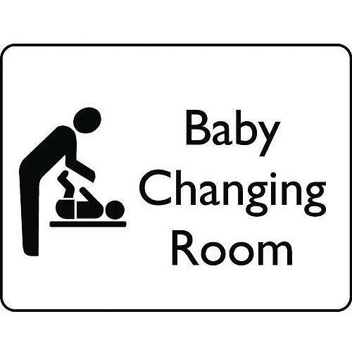 Self Adhesive Vinyl Information Sign Baby Changing Room