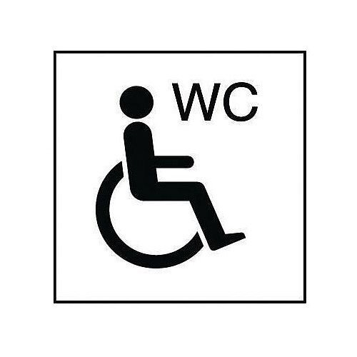 Self Adhesive Vinyl Information Sign Wheelchair Wc
