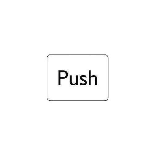 Self Adhesive Vinyl Information Sign Push