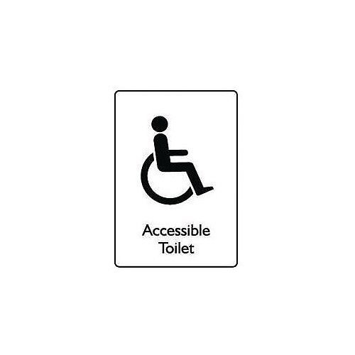 Sign Accessible Toilet Self-Adhesive Vinyl 100x150