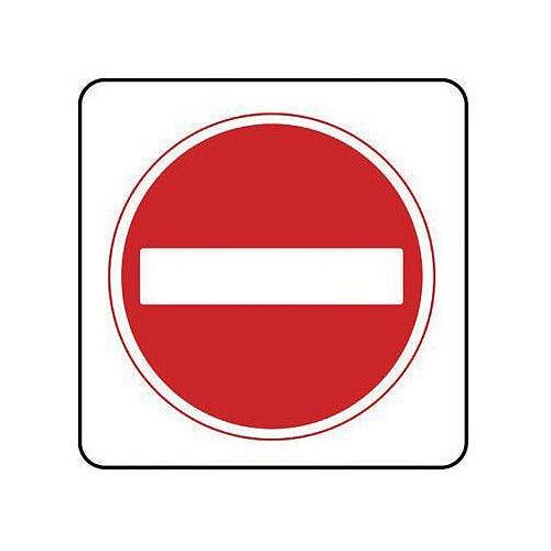 Reflective General Traffic Sign No Entry Symbol