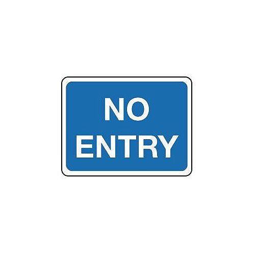 Reflective General Traffic Sign No Entry Text