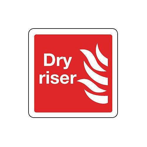 PVC Dry Riser Sign