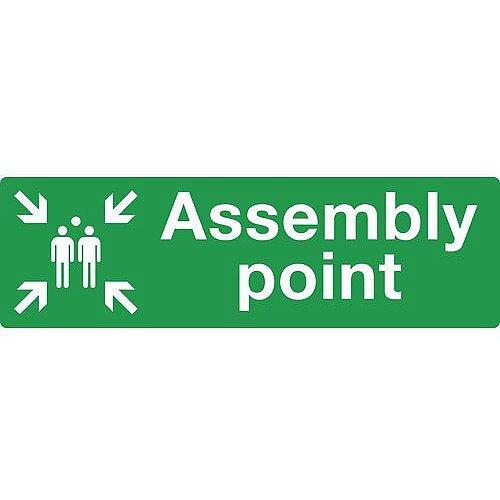 PVC Assembly Point Sign