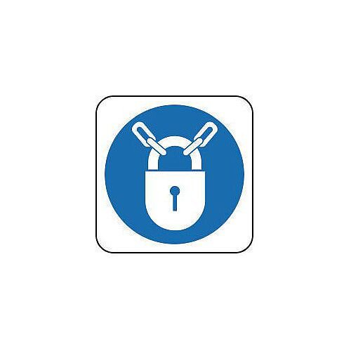 PVC Mandatory Symbol Keep Locked