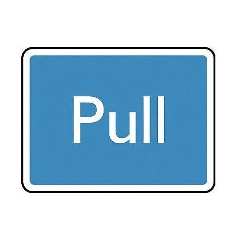 PVC Information Sign Pull