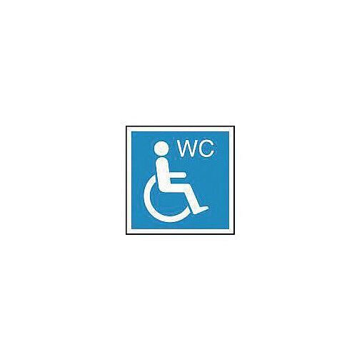 PVC Information Sign Wheelchair Wc