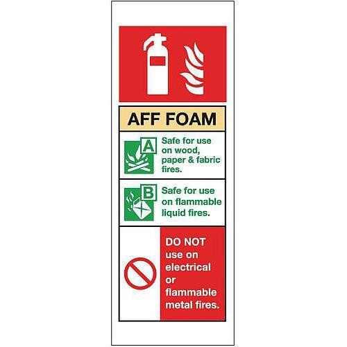 PVC Fire Extinguisher Sign Aff Foam