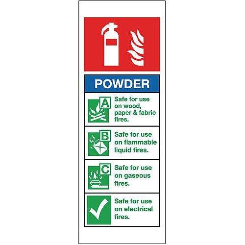 PVC Fire Extinguisher Sign Powder