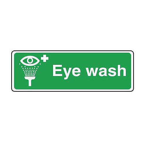 PVC Safe Condition And First Aid Sign Eyewash Text, Pictorial And First Aid Sign