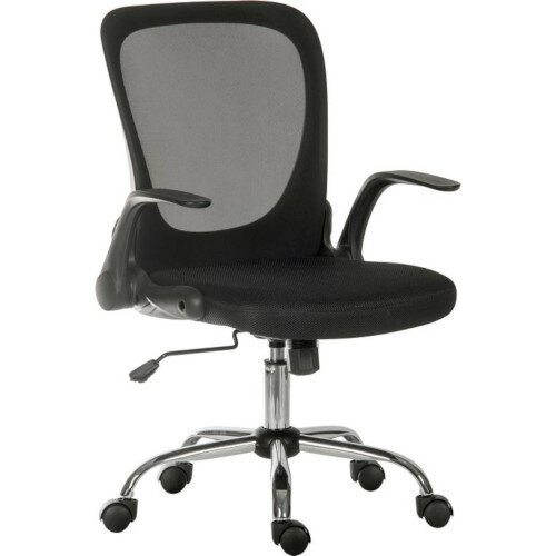 Flip Mesh Executive chair in Black with fold down backrest and flip up armrests