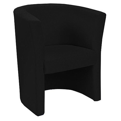 Fabric Upholstered Tub Armchair Black