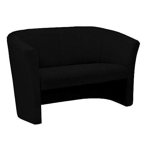 Tub Reception Sofa Fabric Upholstered Black