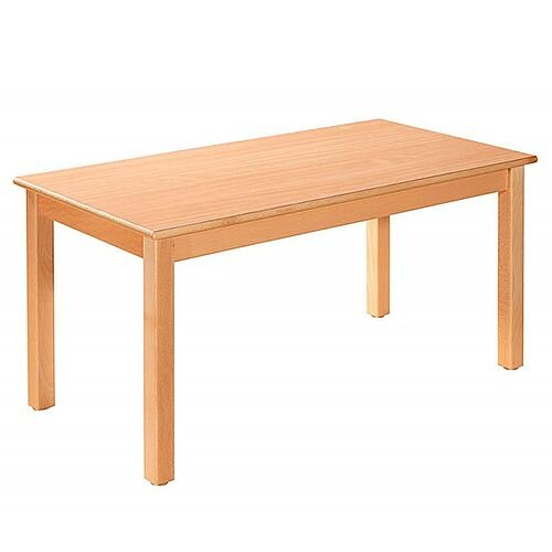 Rectangular Primary School Table Beech Natural 120x60cm 64cm High TC06400