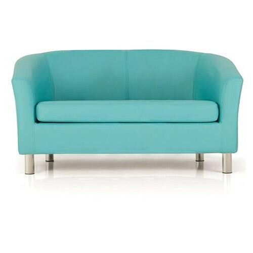 Two Seater Tub Chair Aqua Width 1290mm