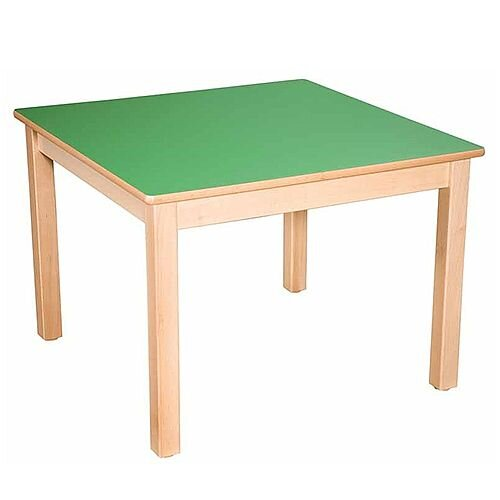 Square Primary School Table Beech Green 80x80cm 70cm High TC37003