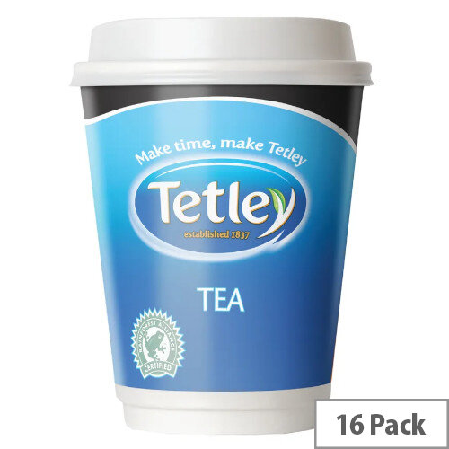 Necafe&o Tetley Tea Foil Sealed Cups Pack 16