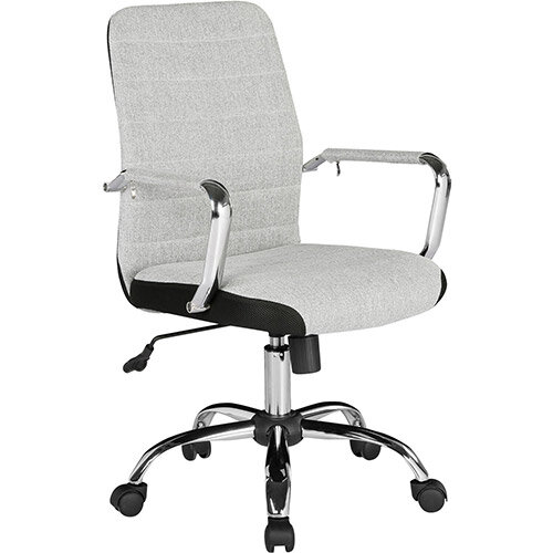 Tempo High Back Fabric Operators Chair With Mesh Trim - Grey