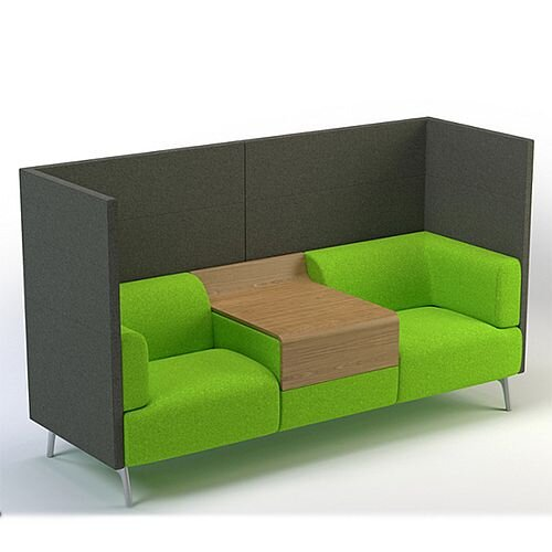 Meeting Pod TRYST 2 Seater Booth Grey &Green STK11