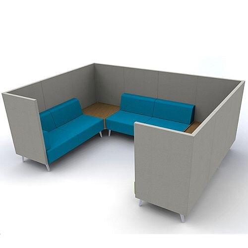 Meeting Pod TRYST 6 Seater Grey &Blue STK47
