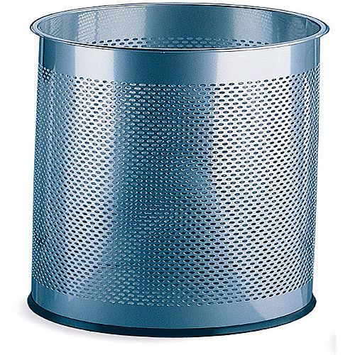 Umbrella/Waste Bin Perforated Silver 28.5 Litres 310253