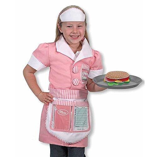 Waitress Kids Costume 3-6 Years