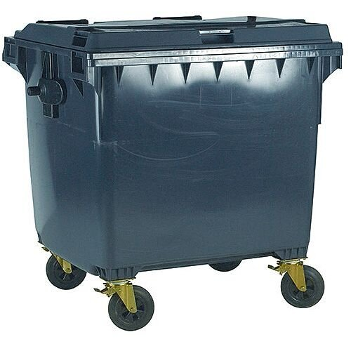 Wheelie Bin 770 Litre 4 Wheels Grey 124569