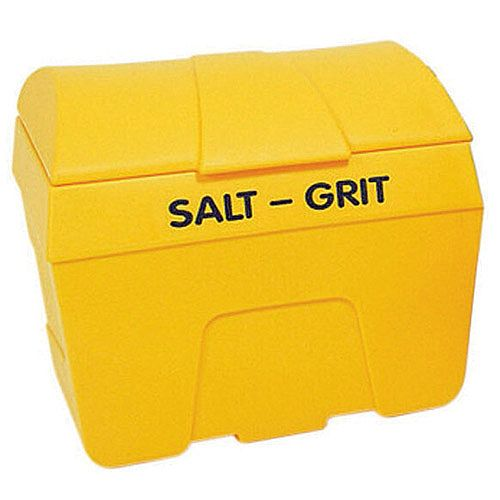 Winter Lockable Salt and Grit Bin Yellow 400 Litre No Hopper 317074
