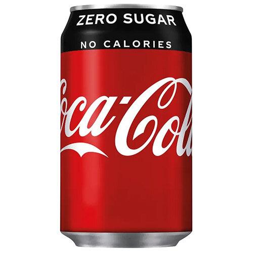 Coca-Cola Zero Sugar Coke Soft Drink Cans 330ml Each Pack of 24 A06992