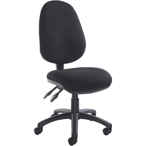 Vantage 100 2 lever PCB operators chair with no arms - black