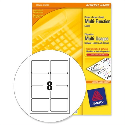 avery 3427 multi function labels 8 per sheet