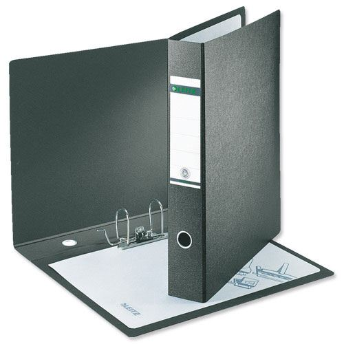 Leitz 18210000 Lever Arch File 180 A4 Wide Cardboard Black