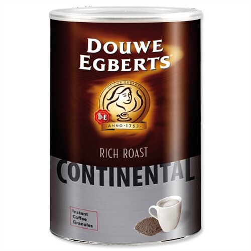 Douwe Egberts Continental Rich Roast Instant Coffee 750g Tin Pack 1 4011111