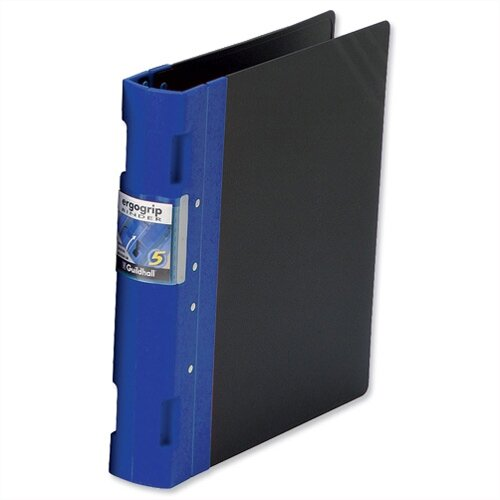 Guildhall GLX Ergogrip A4 Blue 4 Prong Binder 80mm Pack 2