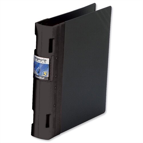 Guildhall GLX Ergogrip A4 Black 4 Prong Binder 80mm Pack 2