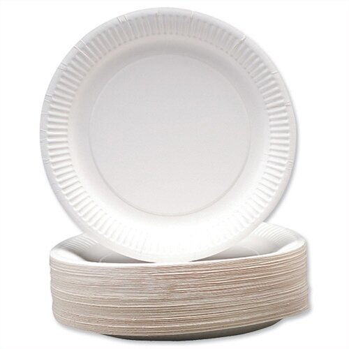 Disposable White Paper Plates ...  sc 1 st  Hunt Office UK : recyclable paper plates - Pezcame.Com