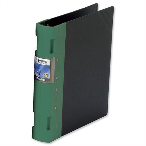 Guildhall GLX Ergogrip A4 Green 8 Prong Binder 55mm Pack 2