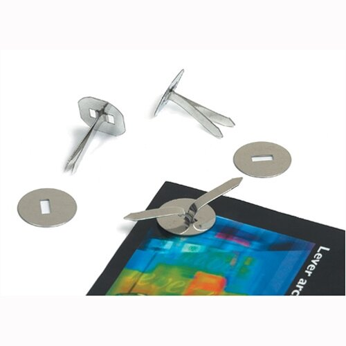 Paper Fasteners Brassed Steel 13mm Pack 200
