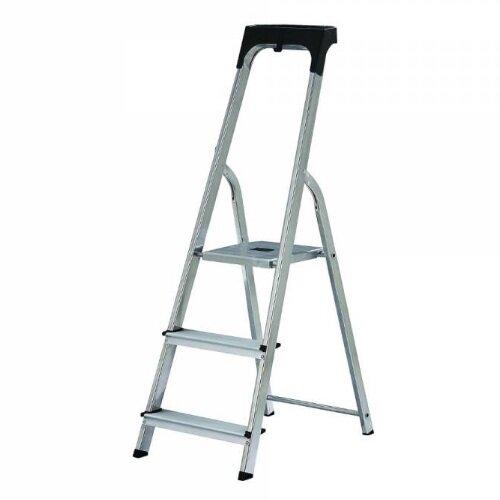 Groovy Abru Promaster Aluminium High Handrail 3 Tread Step Ladder Bralicious Painted Fabric Chair Ideas Braliciousco