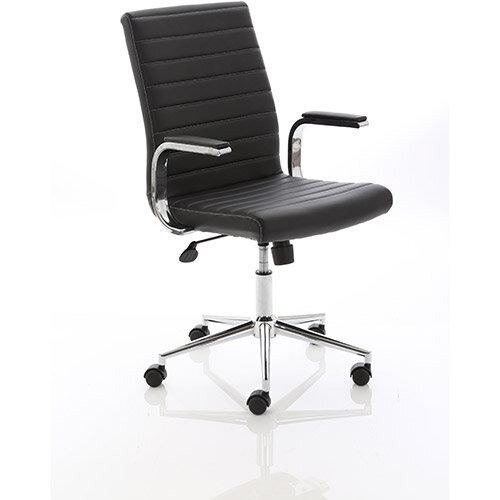 Enjoyable Ezra Executive Black Leather Office Chair Download Free Architecture Designs Viewormadebymaigaardcom
