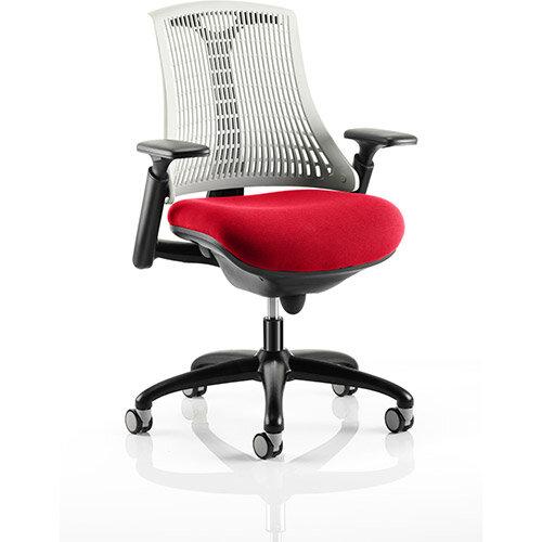 Terrific Flex Task Operator Office Chair Black Frame White Back Cherry Red Seat Ibusinesslaw Wood Chair Design Ideas Ibusinesslaworg